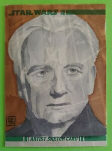 2008 topps PALPATINE sketch card art IAN McDIARMID star wars DON PEDICINI clone
