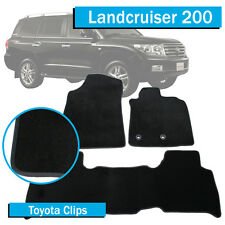 Tailored To Fit: Toyota Landcruiser 200 Series (2012-2017) Black Car Floor Mats