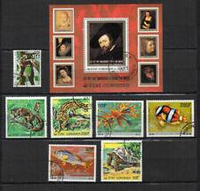 Timbres oblitérés avec 7 timbres