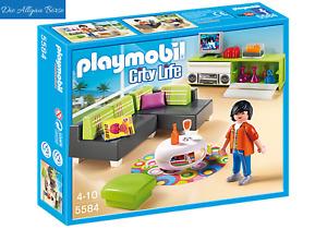 Playmobil 5584 Wohnzimmer Möbel Einrichtung Luxusvilla 5574  Neu OVP