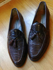 Stacy Adams Men's Brown Genuine Snake Skin Leather Dress Shoes Loafers 8-1/2M