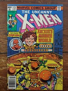 (1978) Uncanny X-Men #123! Spiderman appears! 7.5-8.5 John Byrne Art!