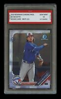 BO BICHETTE 2019 BOWMAN CHROME Topps 1ST GRADED 10 ROOKIE CARD TORONTO BLUE JAYS