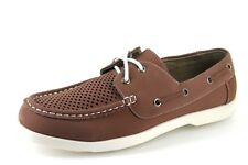 Mad Wax Mens UK 8 EU 42 Brown Perforated Casual Lace Fastening Deck Boat Shoes