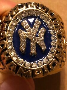 1998 ANDY PETTITTE COMMEMORATIVE CHAMPIONSHIP RING YANKEES SIZE 11