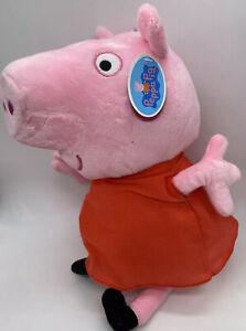 NWT Peppa Pig Plush Stuffed Animal Highly Detail Multicolor 13.5 Inch Pink Plush
