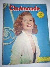 Lot N°85 de 10 magazines revues CINEMONDE année 1953