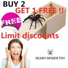 Wooden Prank Spider Scare Box - Surprise Joke Horror Funny Prank Toys Halloween
