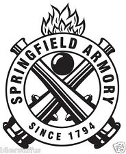 SPRINGFIELD ARMORY SINCE 1794  HELMET STICKER BUMPER STICKER HARD HAT STICKER