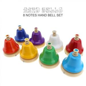 8 Note Colorful Hand Bells Musical Instrument for Baby Kids Children Music Toy