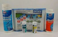 Intex pool Filters Clorox Pool & Spa Shock & Chlorine tablets Test Strips Lot