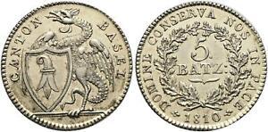 Switzerland, Basel 1810 5 Batzen KM#199