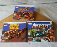 Marvel Snap! Comic Book Library CD-ROM Lot of 3 Iron Man Avengers Daredevil New