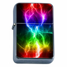 Electric Rainbow Em2 Flip Top Oil Lighter Wind Resistant With Case