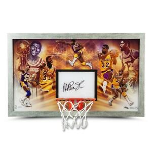 "Magic Johnson Signed Autographed Framed Backboard ""Champion"" Lakers  UDA"