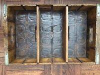Vintage Pepsi Cola Laquered Wood Crate