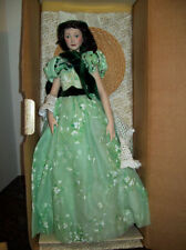"""FRANKLIN MINT SCARLETT O'HARA GONE WITH THE WIND 19"""" PORCELAIN DOLL BRAND NEW"""