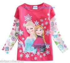 AUS Seller NEW with tags Girls pink Frozen Elsa Anna top tshirt shirt size 4