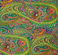 PAISLEY JUNGLE ~ Kaffe Fassett ~ Green ~Westminster~Rowan~ Fabric ~ per 1/2 yard