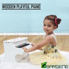Kids Wooden Pretend Musical Toy Baby Children Grand Toy Mini 25 Keys Piano White
