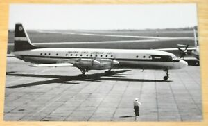 Vintage LOT Polish Airlines Ilyushin IL-18 Airline Issued Postcard