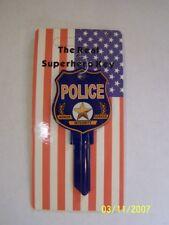 Police Schlage SC1 house key blank.