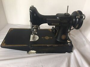 Vintage Singer Featherweight Sewing Machine CAT3-120 194584