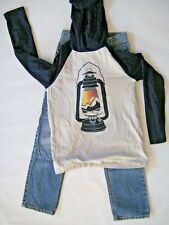 Gymboree Boy Outfit Happy Camper Lantern tee M 7 8 classic jeans size 8 slim