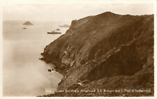 Sark,Creux Derrible in foreground. S.S.Brittany and L'Etac (Guernsey Press)