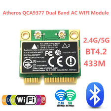 Dual-band 2.4/5G 433Mbps 802.11a/b/g/n/ac BT4.2 Mini PCI-E Wireless WiFi Card RH