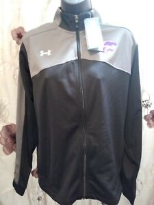 UNDER ARMOUR WOMEN'S LOOSE/COUPE BLACK/GRAY FULL ZIP JACKET SM/P NWT