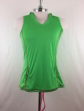 Crane Performance Women Sleeveless Green Working-out Hoodie Size L