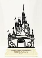 Hallmark Disney Castle Silhouette To all who come to this Happy Place Welcome
