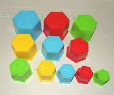 11 Nesting Hexagon Stacking Cups