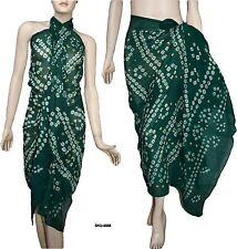 100% Cotton Tie Dyed Beach Wrap Scarf Sarong Pareo Bikini Cover Up Swimwear 4568