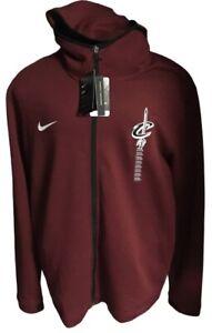 Cleveland Cavaliers Nike Dri-Fit Showtime Maroon Full Zip Hoodie Jacket Mens XXL