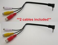 3.5mm Male to 3 Rca Female Audio/Video A/V Composite Stereo Cable Adapter 2 pack