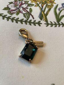 NWOT OZ Coach Metal Emerald Tiny Mini Charm Keychain Bracelet Bag Gold Green LE