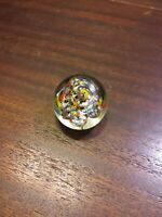VTG HAND BLOWN GLASS ROUND BUBBLES PAPERWEIGHT multiple  colors