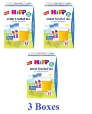 3 Boxes HiPP Organic Instant Fennel Tea sugarfree Made in Germany New