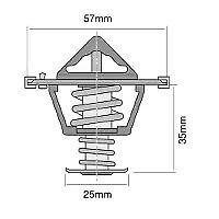 TRIDON Std Thermostat For Volvo C70 LE, T5 12/06-12/10 2.4L 2.5L B5244S, B5254T