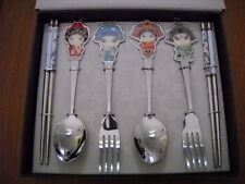 Collectable Chinese Beijing Opera Art Flatware Set Spoon Fork Chopsticks by HDST