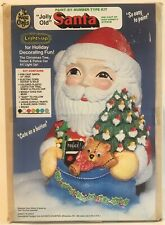 NEW VTG WEE CRAFTS Christmas JOLLY OLD SANTA Paint by Number Kit Light Up Gypsum