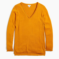 J.Crew Women's Rough Amber V-Neck Linen Blend Beach Sweater Large NWT $69.50