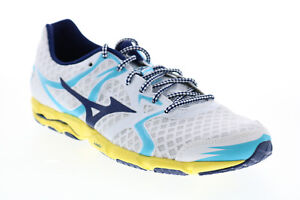 Mizuno Wave Catalyst J1GB148016 Womens White Mesh Lace Up Athletic Running Shoes
