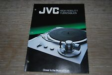JVC Turntable QL-10 QL-8 QL-A7 QL-F6 QL-A5 Original Catalogue