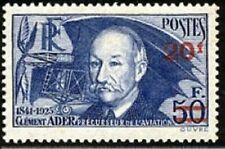 """FRANCE STAMP TIMBRE YVERT N° 493 """" CLEMENT ADER 20F SUR 50F """" NEUF xx TTB"""