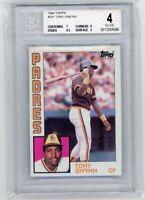 1984 Topps #251 Tony Gwynn San Diego Padres HOF BGS 4 w/ 9.5 Graded Card