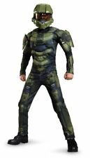 SALE Halo Deluxe Master Chief Muscle Child Costume Disguise M 7-8 SHIPS NEXT DAY