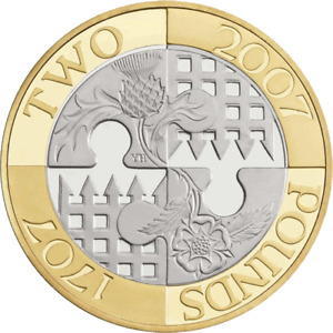 2007 £2 ACT OF UNION TERCENTENARY FREE DELIVERY